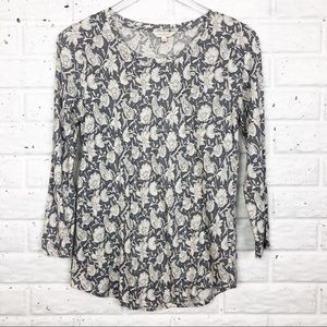 LUCKY BRAND long sleeve floral top